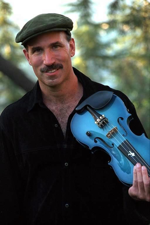 Doug Cameron with Blue Violin