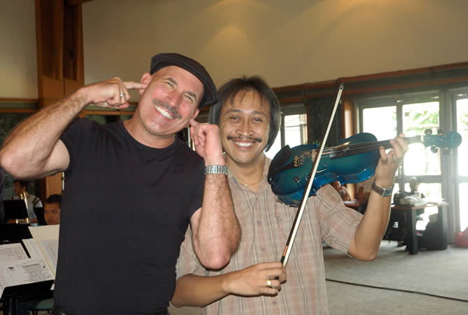 Doug with conductor & educator Purwa Caraka in Jakarta, Indonesia