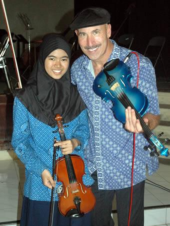 Doug with Jakarta Student, Indonesia