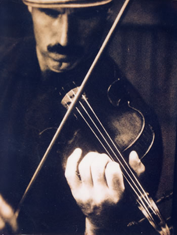 Doug Cameron with Stradivarius Violin